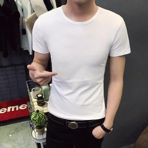 纯色打底短袖t恤
