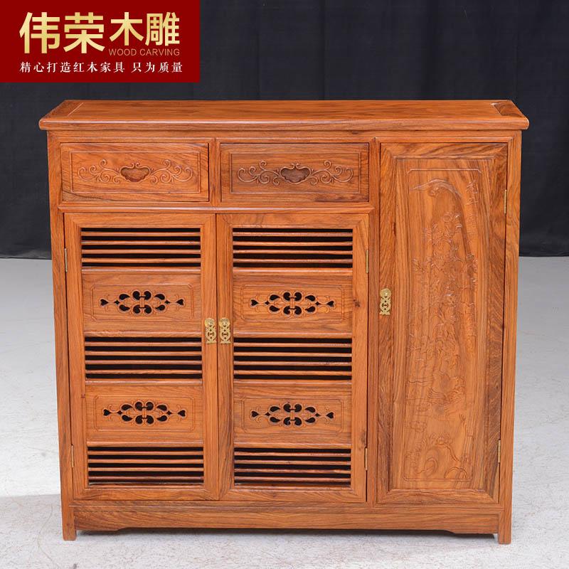 伟荣红木鞋柜中式实木鞋柜x03