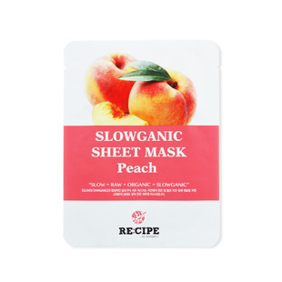 韩国RE:CIPE蜜桃鲜萃补水面膜贴7片 嫩白提亮保湿收缩毛孔正品