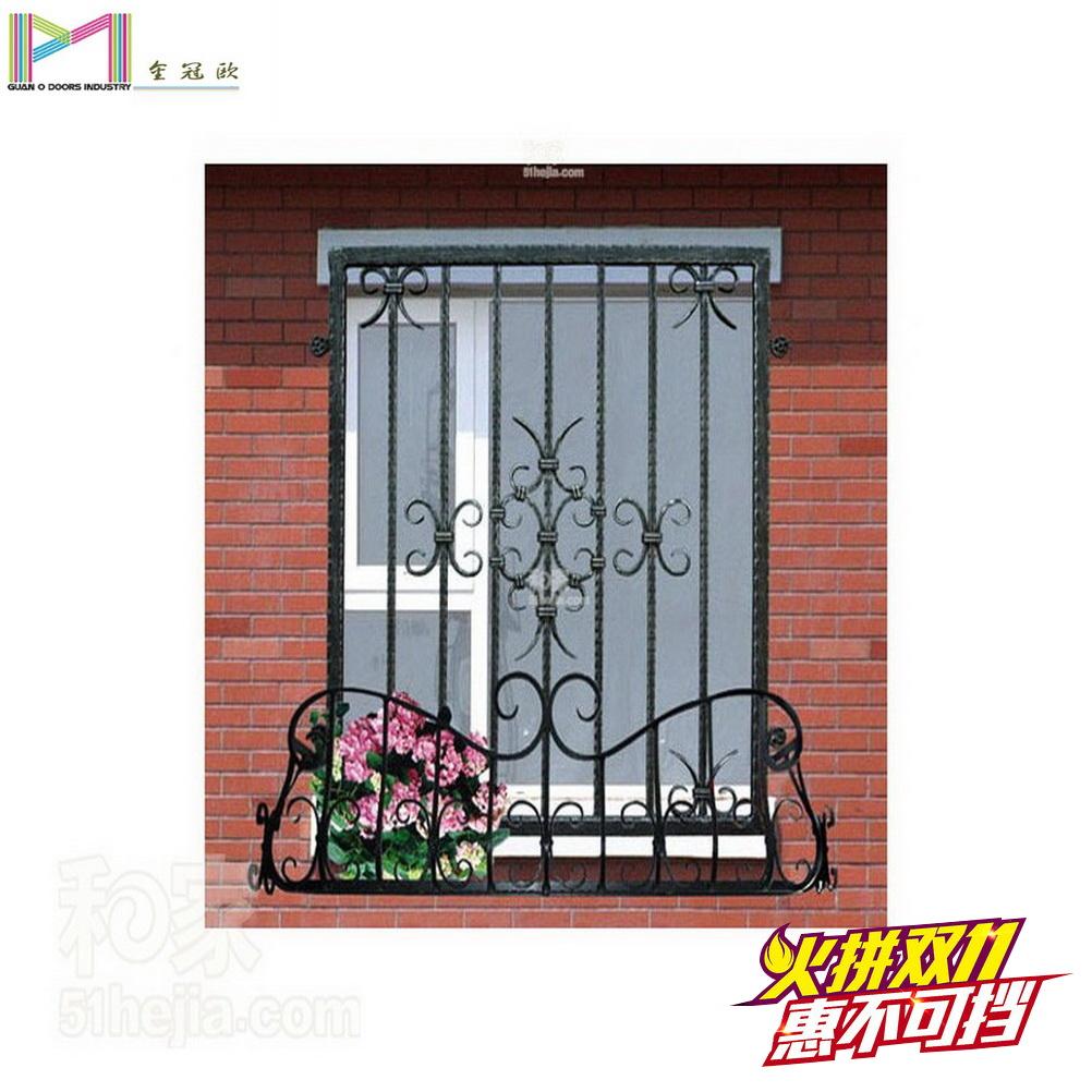 金冠欧铁艺窗防锈防盗窗护栏网罩