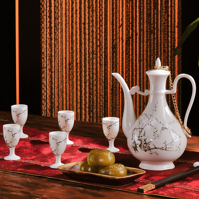 Red xin 11 woolly ipads China jingdezhen porcelain wine suits for liquor wine high small expressions using glass ceramics