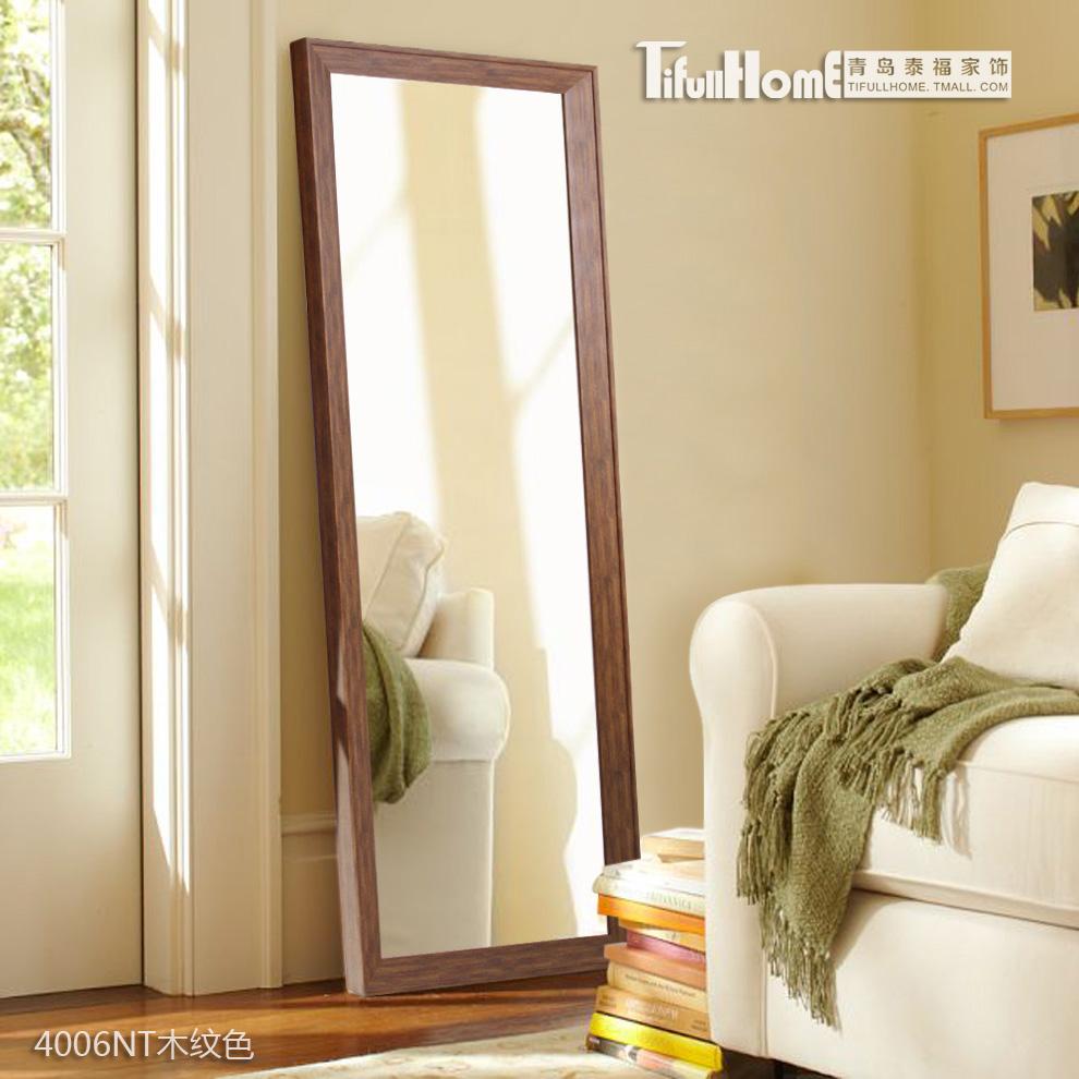 泰福 穿衣镜全身镜 落地田园试衣镜舞蹈大镜子服装镜支架镜子壁挂