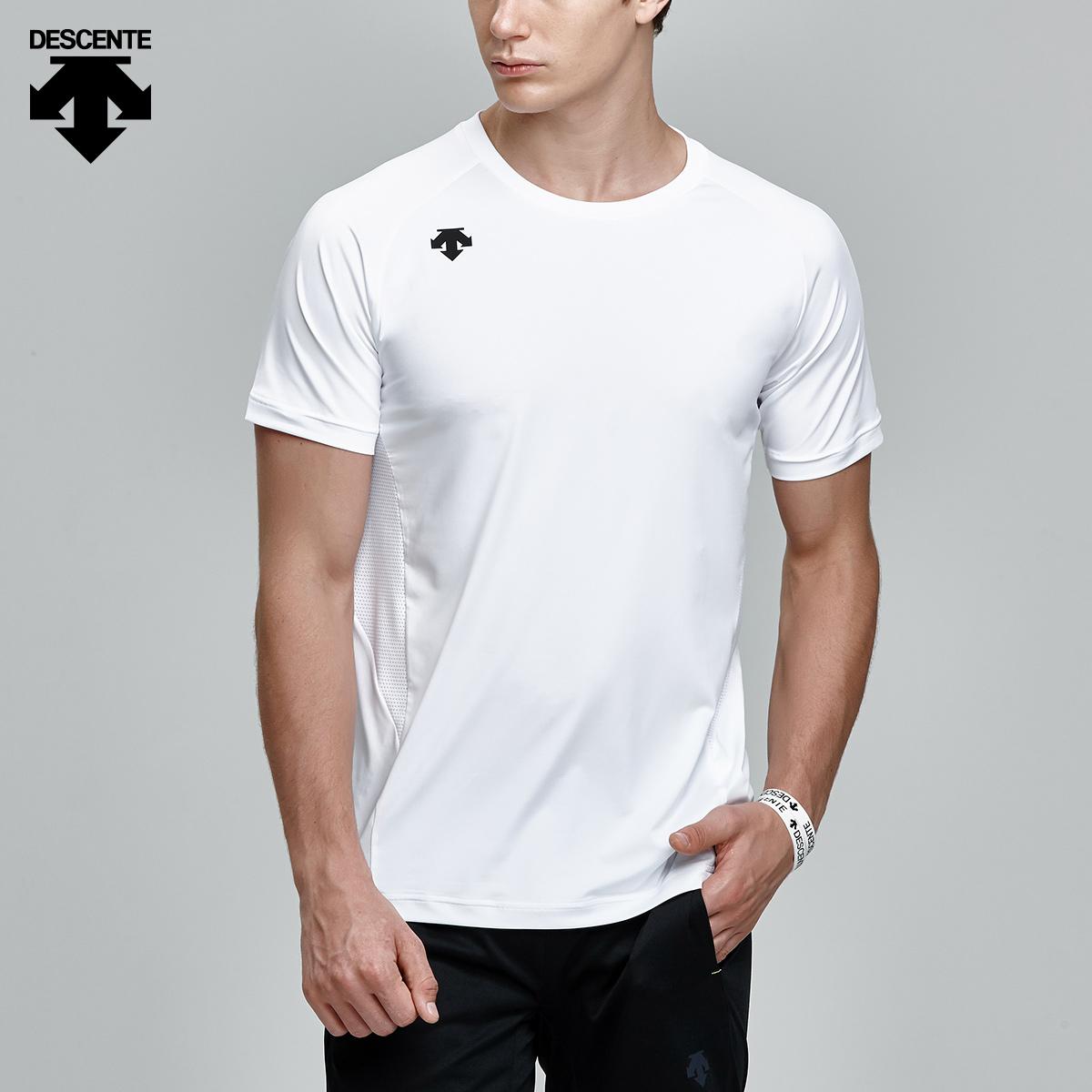 DESCENTE迪桑特 BASIC系列 男子短袖针织T恤 D7231ITS53