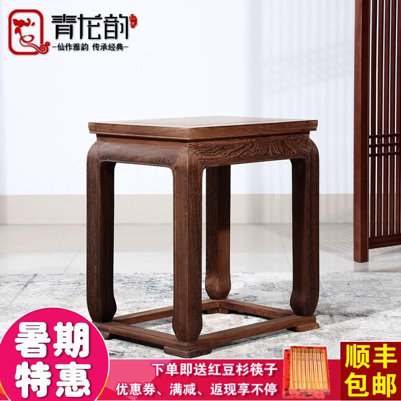 青龙韵鸡翅木实木休闲简易四方茶几bj01
