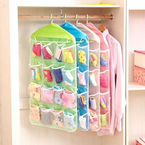 悬挂式挂袋内衣收纳袋透明16格