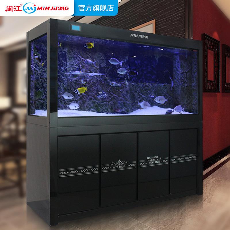 闽江龙鱼缸玻璃生态底滤大型鱼缸加宽中型水族箱1.2-1.5-1.8-2米