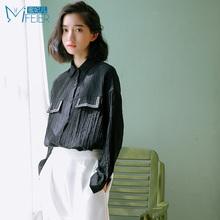 蜜妃儿2016新款女装 韩版长袖衬衫