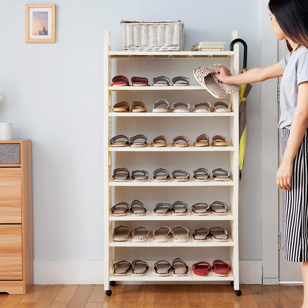 百露多层塑料防尘小鞋架子BL2966