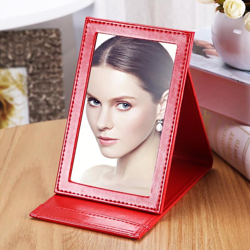 辉航化妆镜子皮质化妆镜