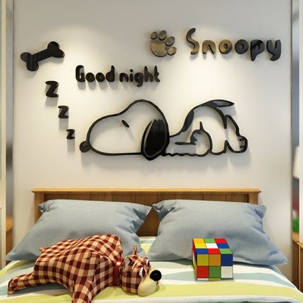 Snoopy Nursery Creative Childrenu0027s Room Decoration Three Dimensional Wall  Stickers Bedside Bedroom Wall Stickers 3d Wall Stickers