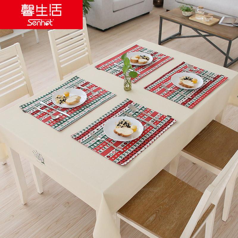 馨生活惬意生活棉麻餐垫W020300347