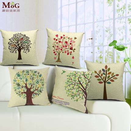 可爱创意时尚欧式家用爱心树靠抱枕田园清新家居客厅卧室汽车摆件