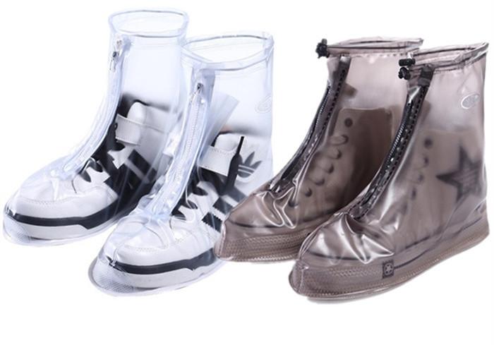 防雨鞋套男女加厚耐磨防滑下雨天穿的鞋套骑行摩托车高筒防水鞋套 - 封面