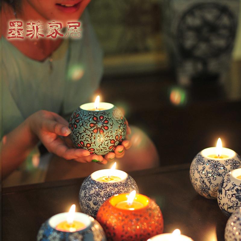 墨菲手工陶瓷烛台20120621014