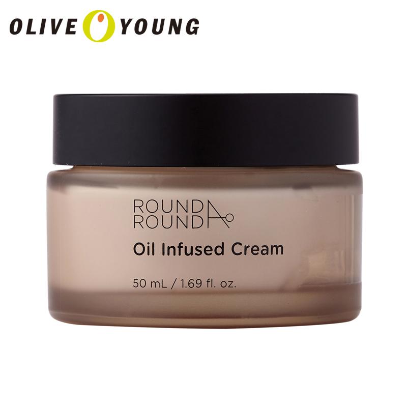 【韩国化妆品】韩国round a round 小清新精油发酵按摩活力光彩面霜橄榄油抗氧化