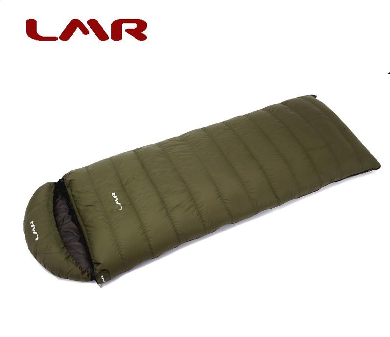 LMR羽绒睡袋 信封式成人户外超轻冬季加厚 鹅绒1200克舒适-18包邮