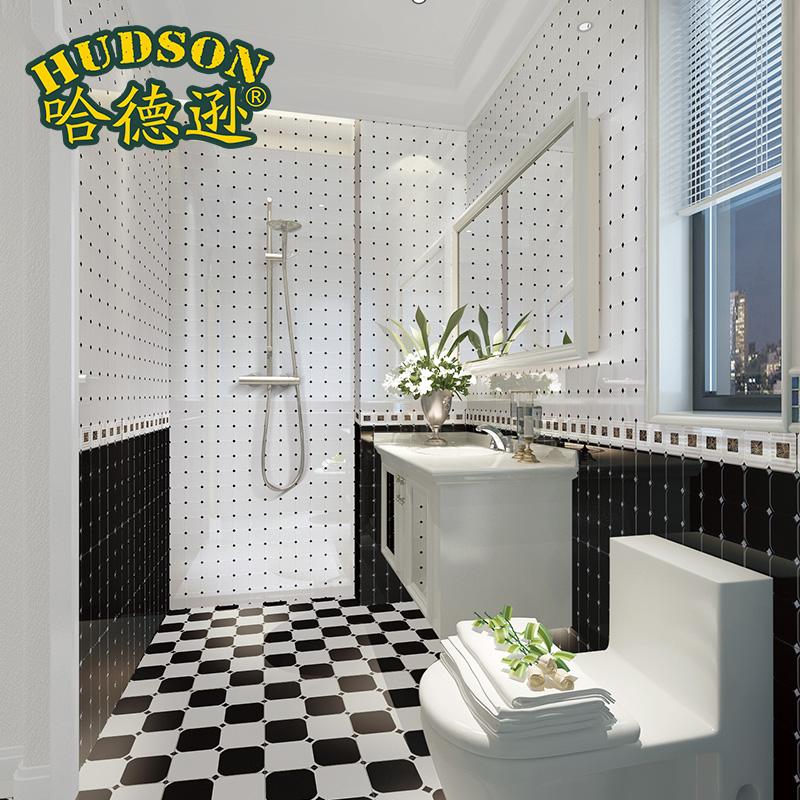 哈德逊简约瓷砖黑白伯爵 HDCW27-1 黑色 HDCW