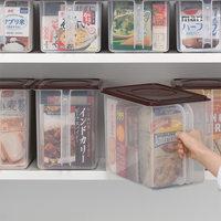 日本进口厨房塑料收纳盒收纳箱整理箱透明杂粮密封盒食品储物箱