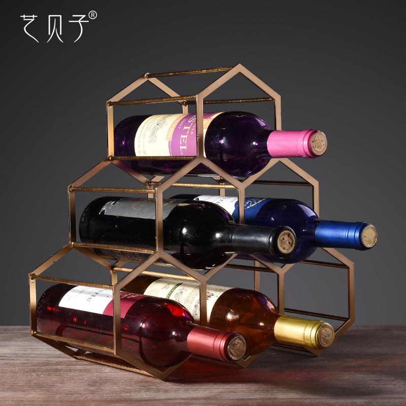 艺贝子欧式红酒架摆件YBZ-B1055