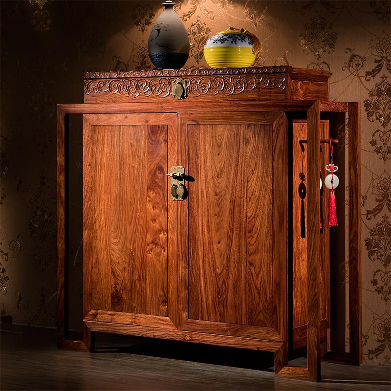 御王府中式全实木刺猬紫檀红木柜