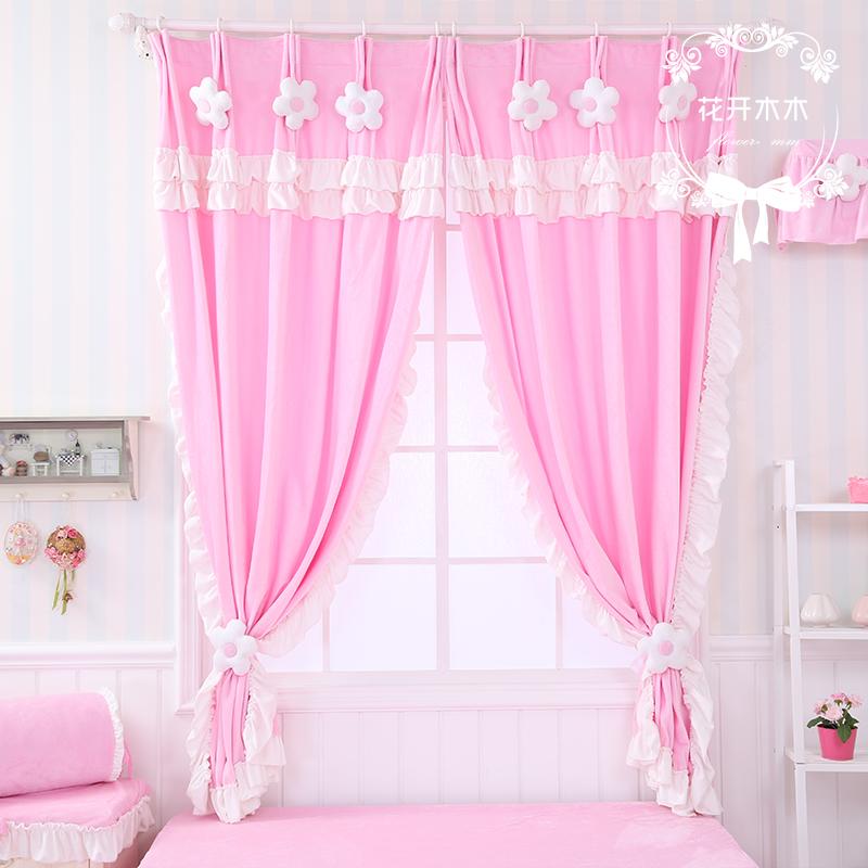 花开木木布艺窗帘床幔2014021403
