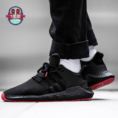 T Troubled Adidas EQT Support 93 / 17 Boost Lantern festival negro rojo