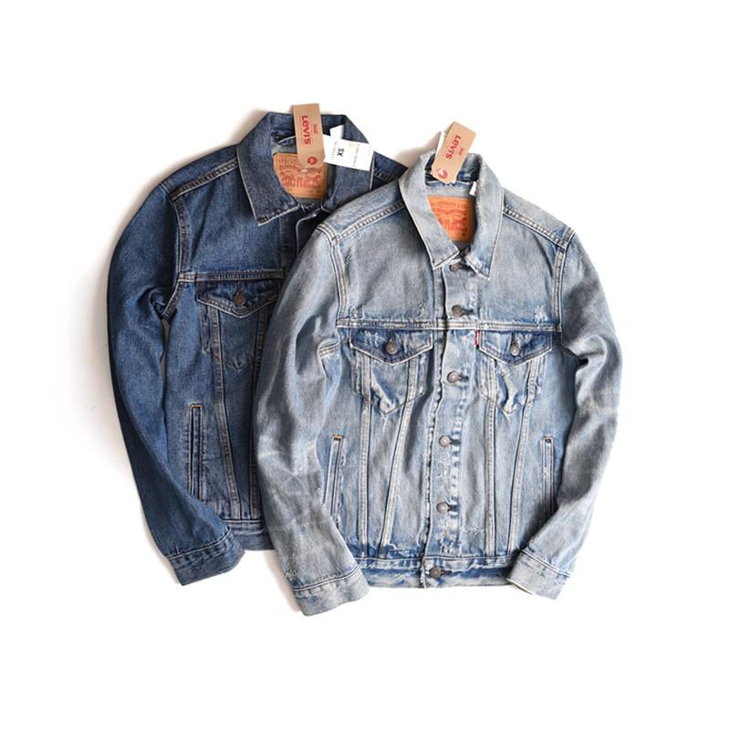 Levis李维斯夹克外套男青年春装修身型外套帅气大码牛仔上衣72334