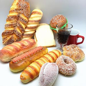 仿真面包假汉堡蛋糕模型食物食品道具橱柜装饰面包店面摆设样品