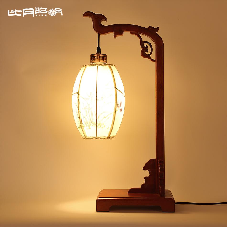 比月新中式简约书房实木古典床头灯6163