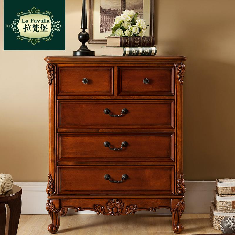 美式斗柜储物柜宜家五斗柜实木经济型三斗柜欧式客厅卧室收纳柜子