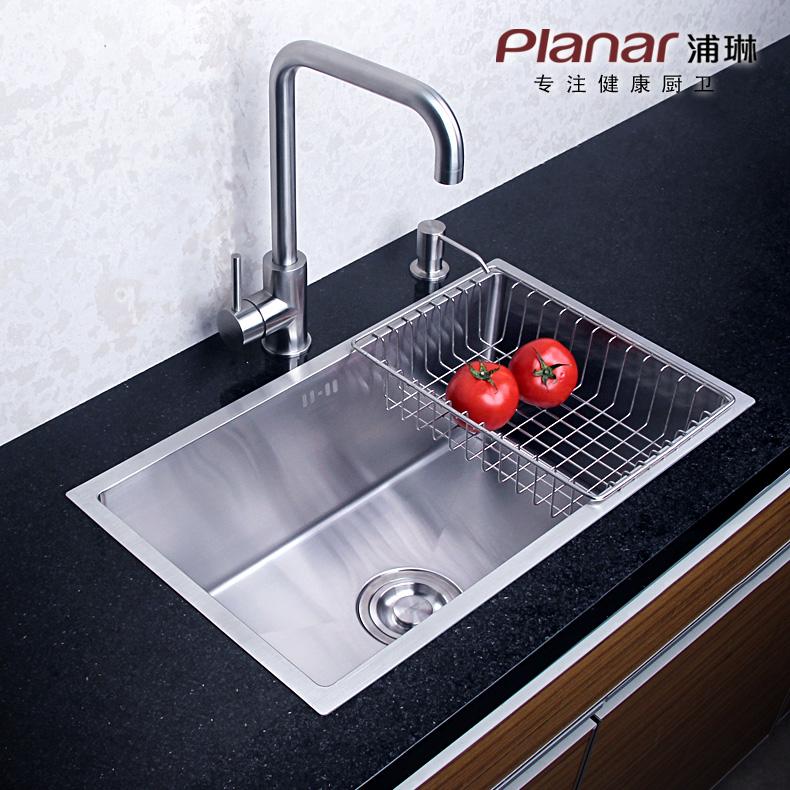 浦琳304不锈钢水槽单槽PL-2060AS