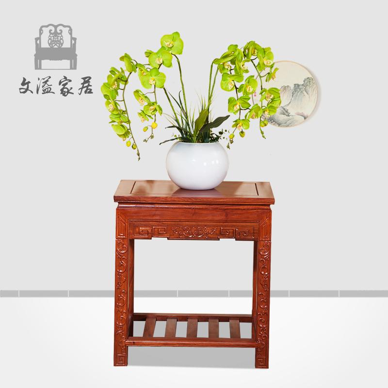 文溢中式花梨木盆架