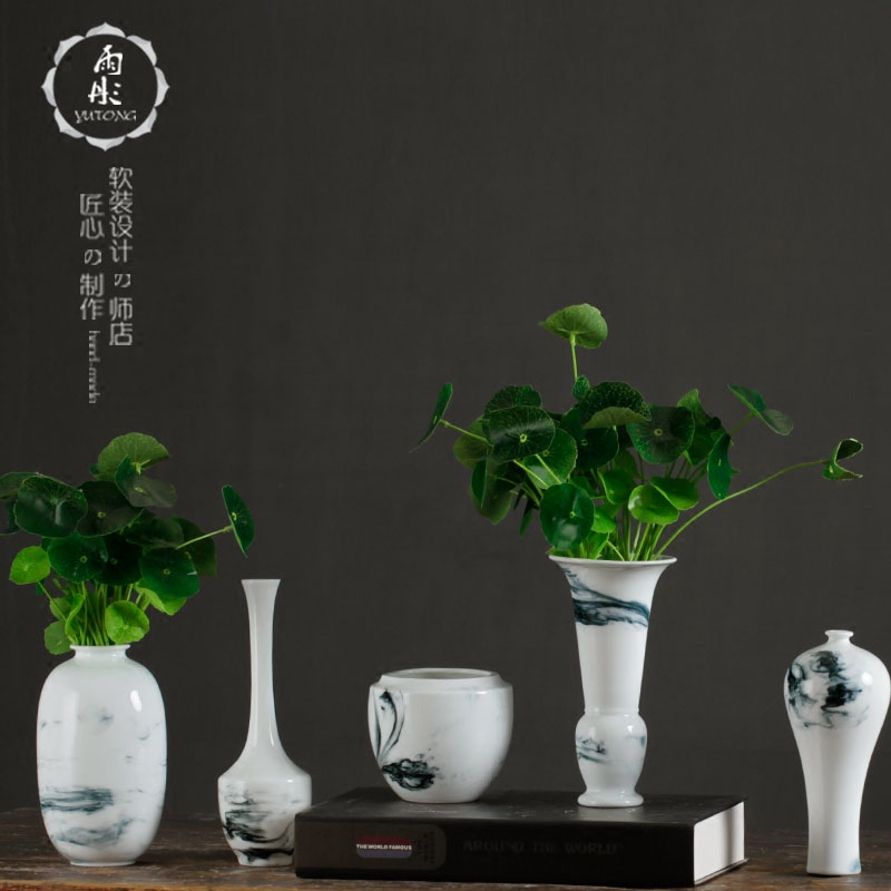 Home sitting room ceramics mesa small pure and fresh flower arranging flower receptacle furnishing articles table creative contracted decorate floret