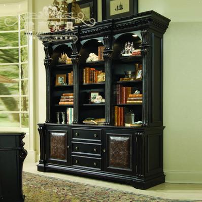 建泰欧式软包柜门书架实木储物柜J021