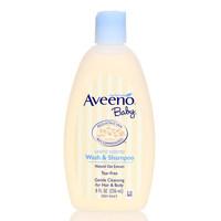 美国Aveeno baby艾维诺婴儿童宝宝燕麦无泪二合一洗发沐浴露乳液