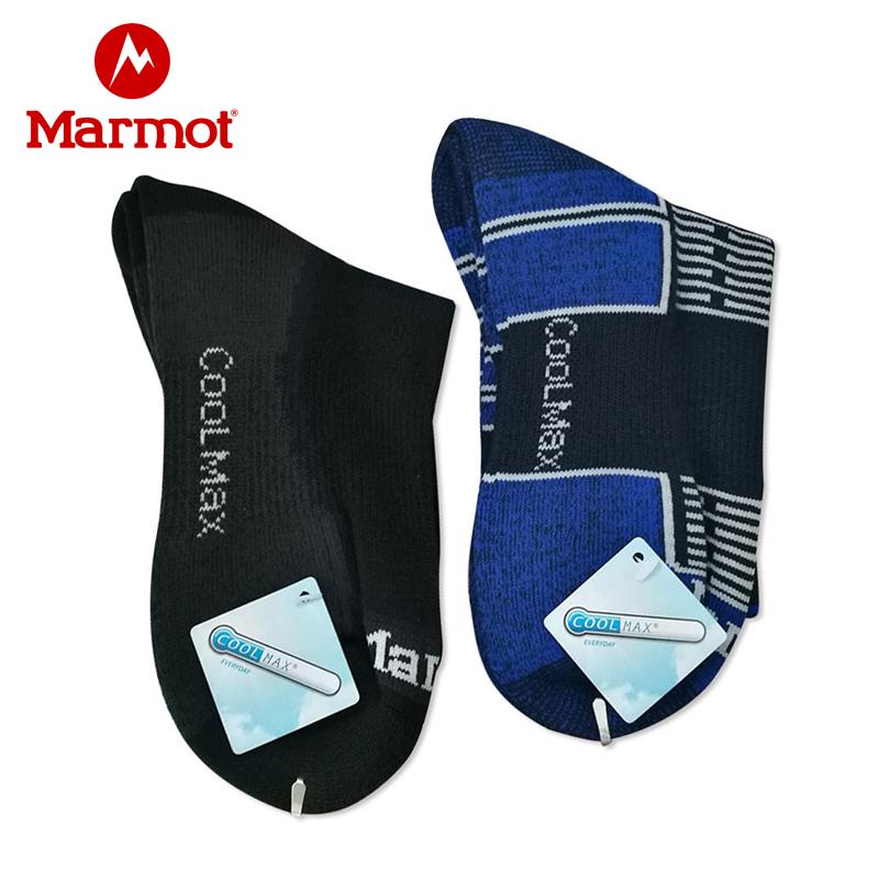 marmot/土拨鼠新款女式袜子户外徒步防寒保暖高筒女袜17810