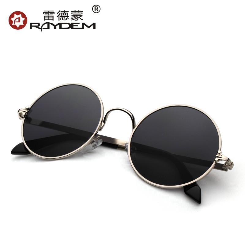 圆框太子镜圆形墨镜男士潮人复古太阳镜女潮防紫外线2018新款眼镜