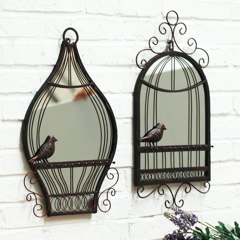 优贝家欧式壁挂鸟笼镜子BS201
