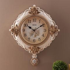 蒂拉欧式复古客厅创意静音挂钟 家居客厅卧室时钟 艺术钟表