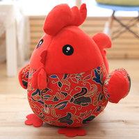 鸡年吉祥物公仔鸡宝宝毛绒玩具小鸡创意大公鸡玩偶布娃娃年会礼品