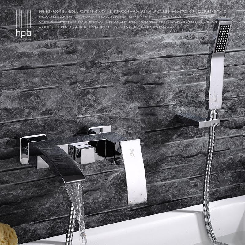 汉派卫浴全铜冷热三联瀑布式浴缸龙头HP5006