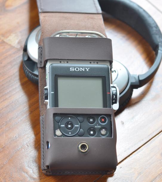 чехол для плеера Sony PCM D100 последние кожи с растительного дубления кожи ручной работы пользовательских кожаный случай черно-коричневые