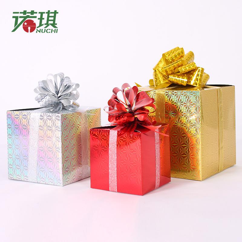 诺琪圣诞节装饰品蝴蝶结圣诞礼物盒S336