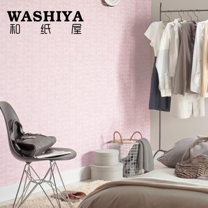 和纸屋粉色布面墙纸RE-2756