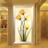 玄关装饰画 简约现代竖版壁画走廊过道挂画花卉纯手绘欧式 油画