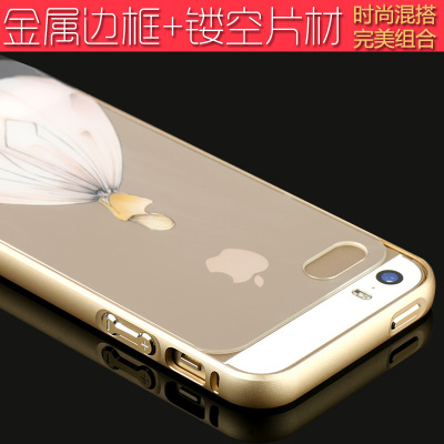 Iphone5s mobile phone shell metal frame ipone Apple SE aluminum alloy sleeve ES female male ihone accessories