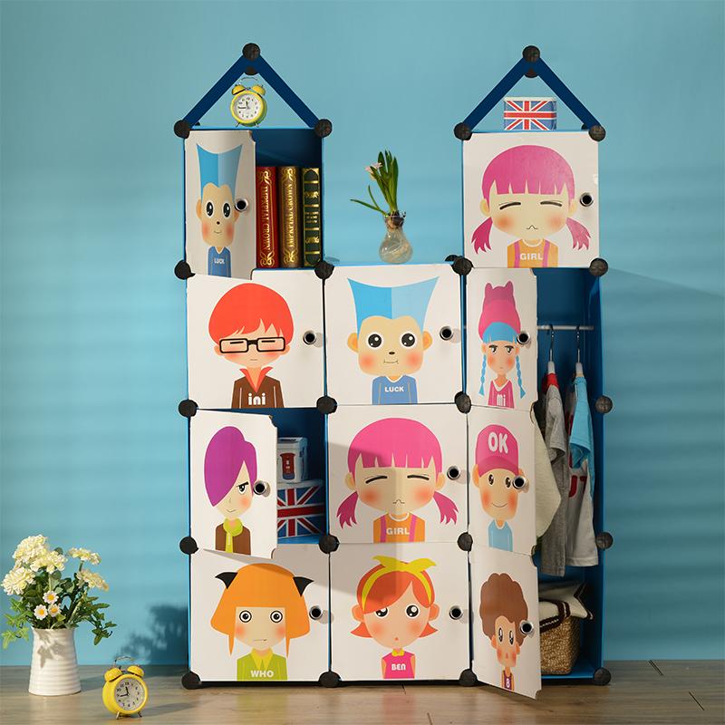 柏丝纳儿童衣橱卡通城堡储物柜