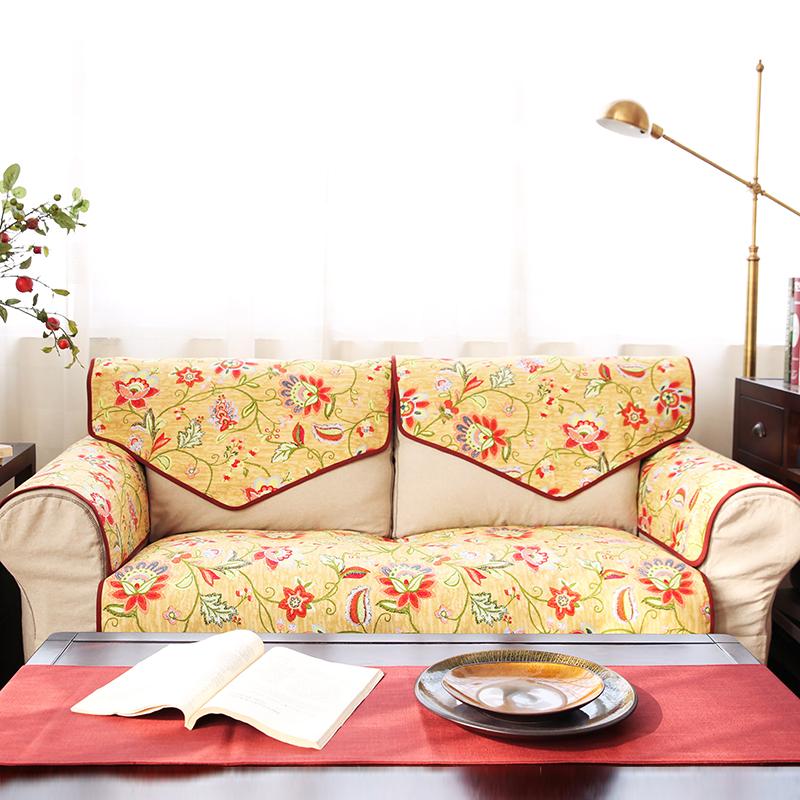 吉屋美式大花沙发垫JW21H0045