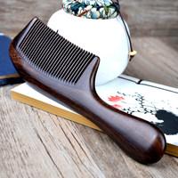 珍梳坊天然檀木梳子防静电梳子定制刻字木梳 按摩梳子有绿檀木梳
