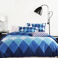 ALLBRIGHT/欧博特北欧全棉四件套床上用品60支贡缎1.5被套/1.8米